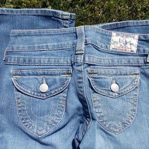 True Religion Hi Rise Boot Cut Jeans Size 27